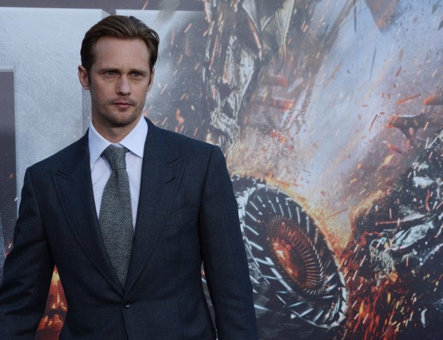 Alexander Skarsgard, a cast member in the premiere motion picture sci-fi fantasy Battleship, attends the premiere of the film at Nokia Theatre in Los Angeles on May 10, 2012. UPI/Jim Ruymen