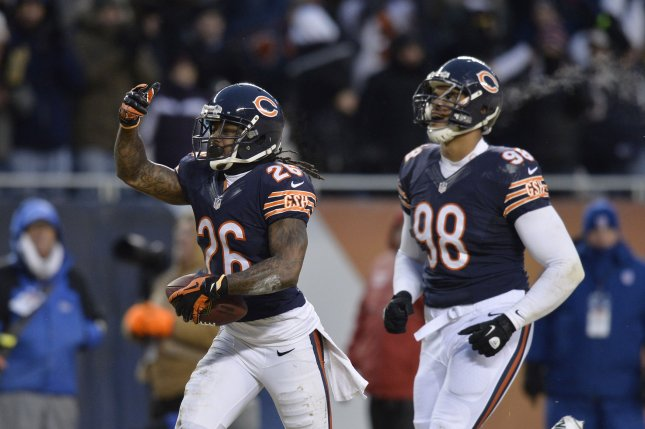 Chicago Bears cornerback Tim Jennings (26). UPI/Brian Kersey