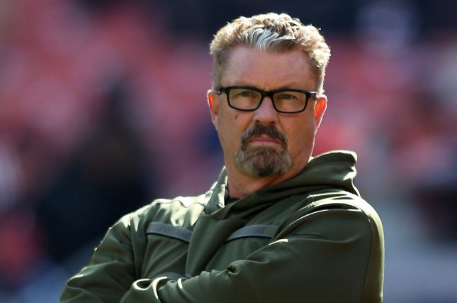 Cleveland Browns interim head coach Gregg Williams looks on during a game against the Atlanta Falcons on November 11, 2018 at FirstEnergy Stadium in Cleveland, Ohio. Photo by Aaron Josefczyk/UPI