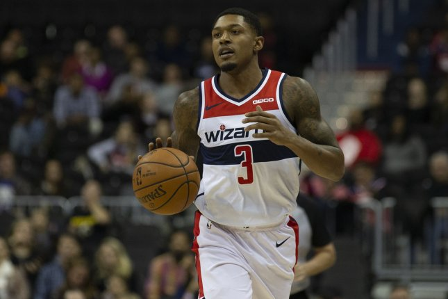 Washington Wizards guard Bradley Beal averaged a career-high 25.6 points per game last season, while starting all 82 games. File Photo by Alex Edelman/UPI
