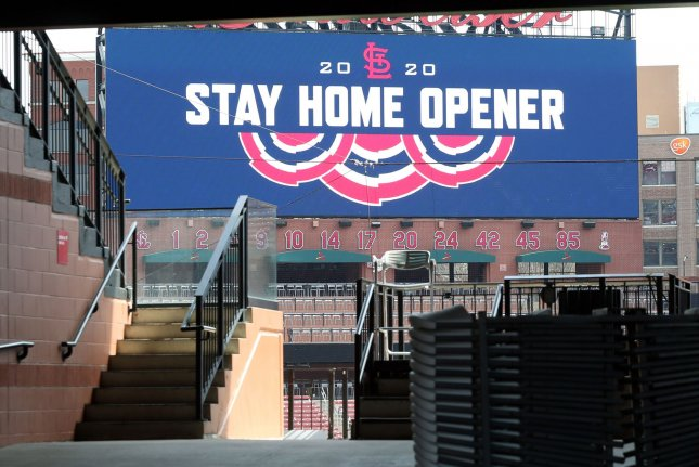 Major League Baseball players have proposed a 114-game regular season, which would start June 30. File Photo by Bill Greenblatt/UPI