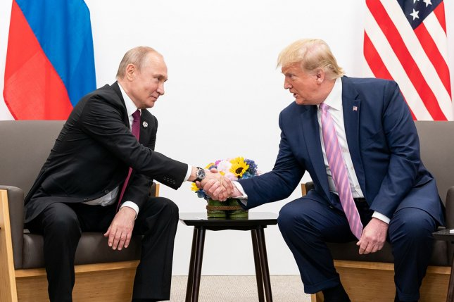 U.S. President Donald Trump spoke by phone to President of the Russian Federation Vladimir Putin about Russia's attendance at the G7 summit planned for Camp David. File White House Photo by Shealah Craighead/UPI