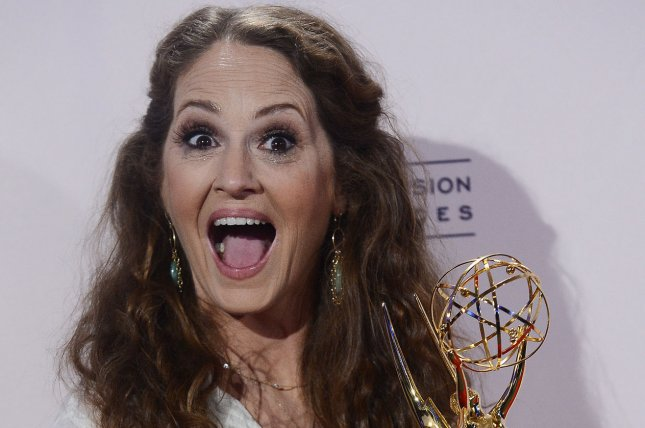 Melissa Leo wins the outstanding guest actress for a comedy series Emmy at the 2013 Primetime Creative Arts Emmy Awards at the Nokia Theatre L.A. LIVE in Los Angeles on Sept. 15, 2013. Photo by Jim Ruymen/UPI