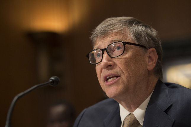 Billionaire Bill Gates will put forth a plan Monday to create a multi-country, multi-billionaire partnership to fund clean-energy research. Photo by Kevin Dietsch/UPI.