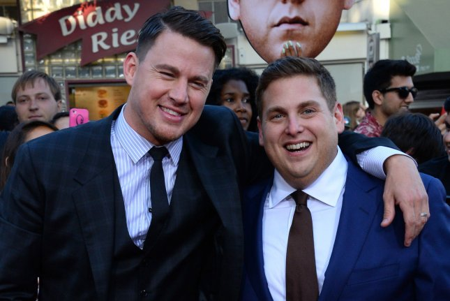 Jump Street stars Channing Tatum (L) and Jonah Hill (R) attending the premiere of 22 Jump Street on June 10, 2014. The duo are set to appear in Sony's recently titled Jump Street and Men in Black crossover, MIB 23. File Photo by Jim Ruymen/UPI