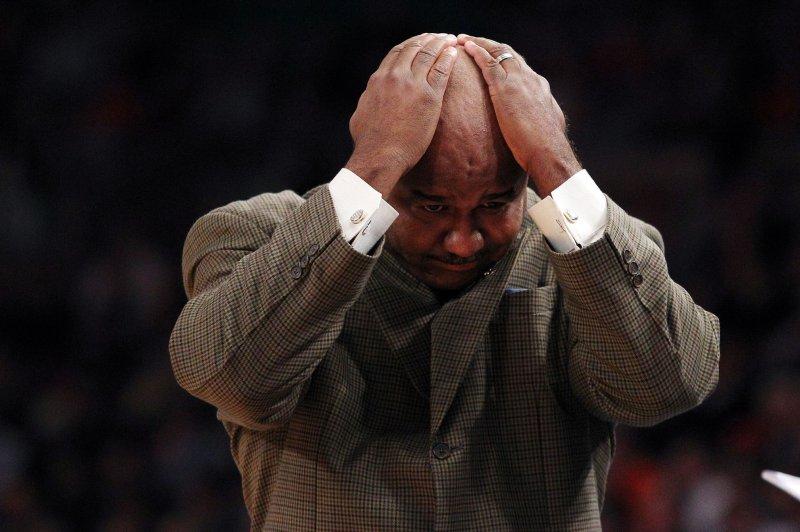 Georgetown Hoyas head coach John Thompson III. UPI/John Angelillo