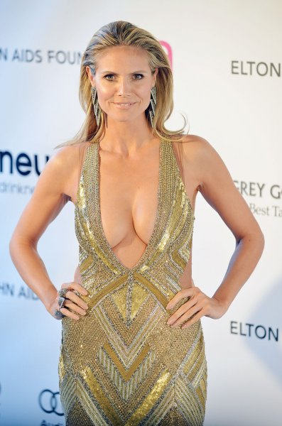 Heidi Klum attends the Elton John AIDS Foundation Academy Awards Viewing Party at West Hollywood Park in Los Angeles on February 24, 2013. UPI/Chris Chew