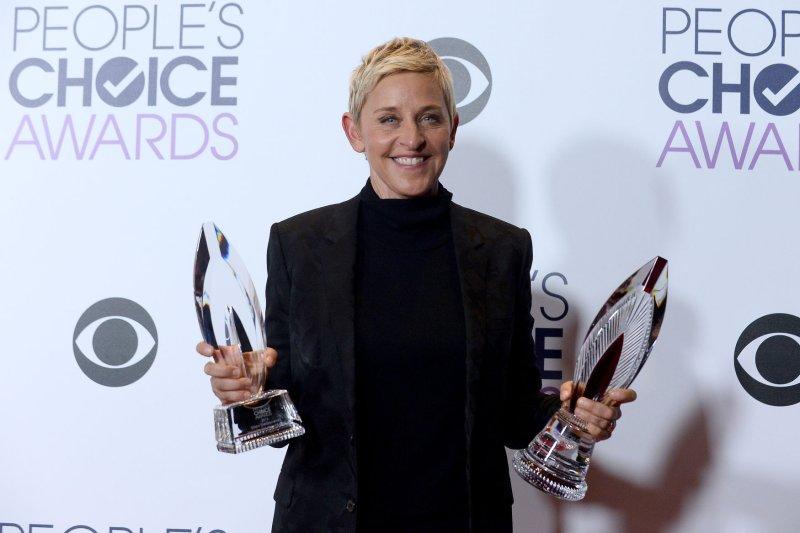 Ellen DeGeneres at the People's Choice Awards on January 6. File Photo by Jim Ruymen/UPI