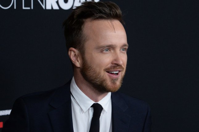 Aaron Paul at the Los Angeles premiere of Triple 9 on February 16, 2016. File Photo by Jim Ruymen/UPI