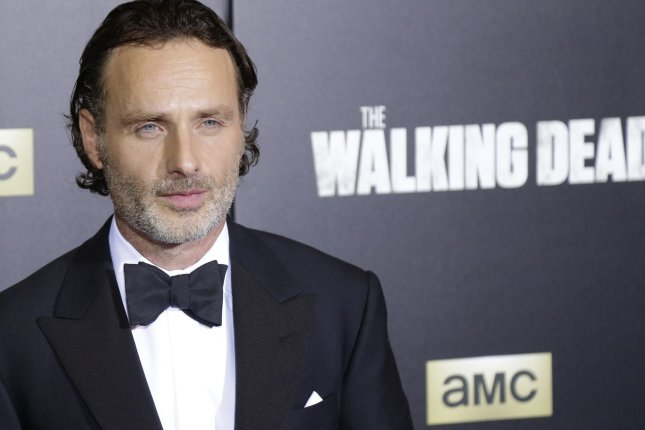 Andrew Lincoln is seen on the newly released Season 9 poster for The Walking Dead. File Photo by John Angelillo/UPI
