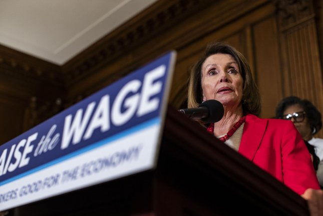 President Donald Trump suggested House Speaker Nancy Pelosi fly commercial to a combat zone in Afghanistan. Photo by Alex Edelman/UPI
