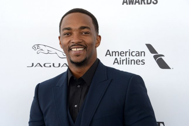 Actor Anthony Mackie is set to star in the Netflix movie Outside the Wire. File Photo by Jim Ruymen/UPI