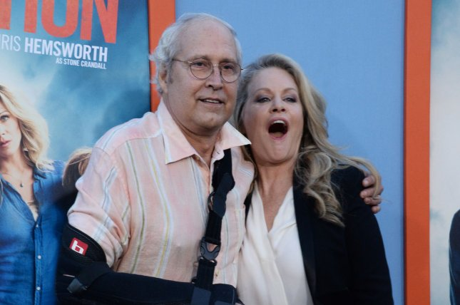 A stage musical based on the Vacation films starring Chevy Chase and Beverly D'Angelo is set to open in Seattle this fall. File Photo by Jim Ruymen/UPI