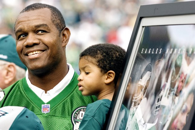 Former Philadelphia Eagles star quarterback Randall Cunningham, who was inducted into the College Football Hall of Fame in 2016, currently resides in Las Vegas and established his own church, Remnant Ministries. File Photo by John Anderson/UPI