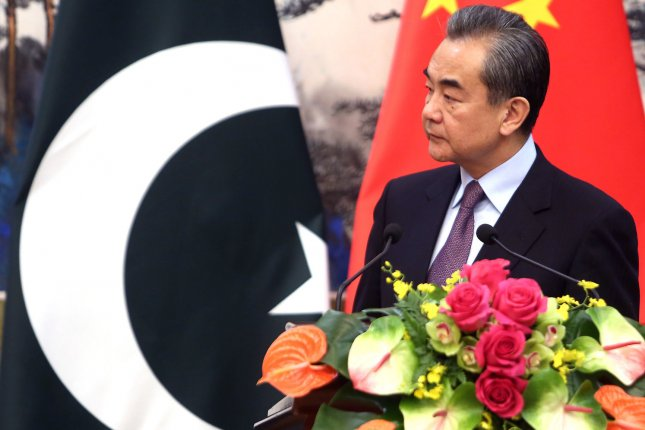 Chinese Foreign Minister Wang Yi said at the Lanting Forum on Monday Washington should not address any issues related to Chinese territories. File Photo by Stephen Shaver/UPI