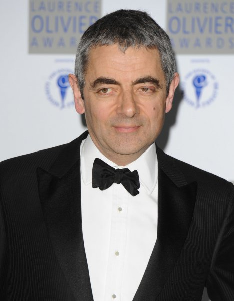 British actor Rowan Atkinson, who was hospitalized after crashing a $1 million sports car. UPI/Rune Hellestad