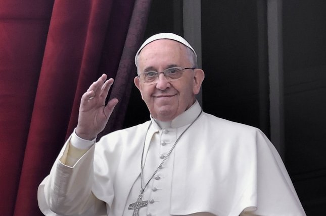 Pope Francis said Wednesday large families are not the cause of poverty after saying Catholics should not feel the need for large families. UPI/Stefano Spaziari