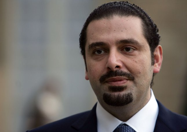 Saad Hariri, pictured, was asked by Michel Aoun, Lebanon's newly elected president, to organize a cabinet. Photo by Eco Clement/UPI