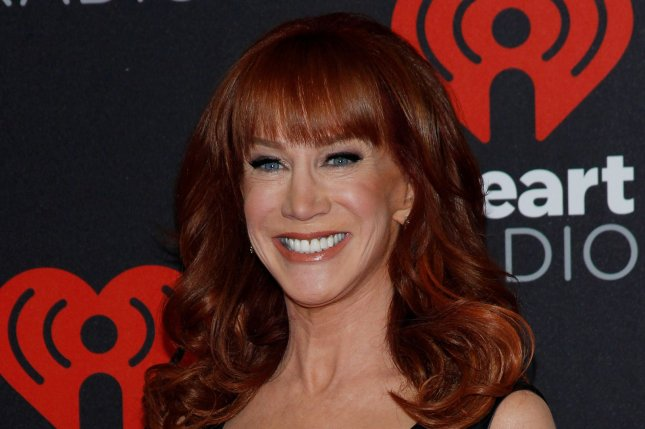 Kathy Griffin arrives for the iHeartRadio Music Festival on September 24. Griffin held a press conference to comment on the photo she released of herself holding up a decapitated head resembling President Donald Trump. File Photo by James Atoa/UPI