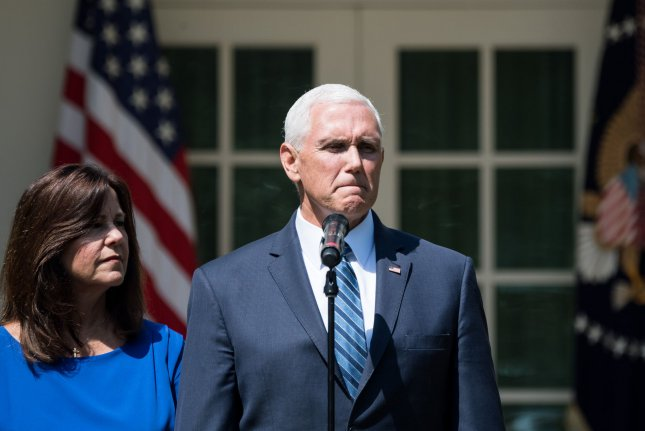 Vice President Mike Pence is meeting with a Mexican delegation Wednesday to discuss steps Mexico can take to avoid tariffs. Photo by Kevin Dietsch/UPI