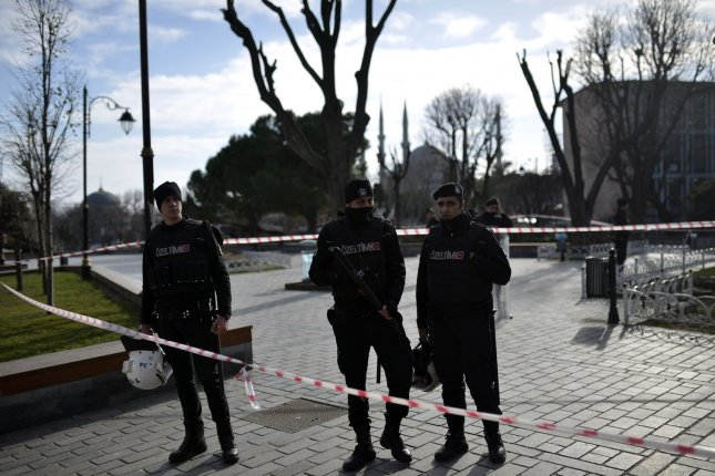 Turkey has arrested nine people, including three Russians, suspected of being Islamic State members following a suicide bomb attack in Istanbul that killed 10. Police conducted raids in Antalya and in İzmir, which led to the arrests. Photo by Ali Turkel/UPI
