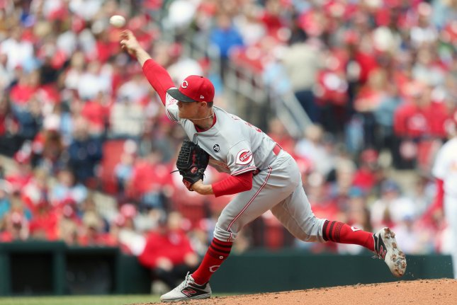 Cincinnati Reds starting pitcher Sonny Gray has a 3.59 ERA in his first year with the Reds. File Photo by Bill Greenblatt/UPI