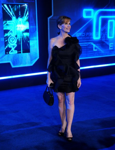 Actress Melissa Gilbert attends the world premiere of the motion picture sci-fi thriller TRON: Legacy, at the El Capitan Theatre in the Hollywood section of Los Angeles on December 11, 2010. UPI/Jim Ruymen