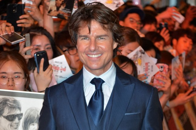 Tom Cruise is greeted by eager fans as he attends the premiere of film Mission: Impossible - Rogue Nation in Seoul, South Korea on July 30, 2015. Recently the actor met with producer Jerry Bruckheimer to discuss Top Gun 2. File Photo by Keizo Mori/UPI