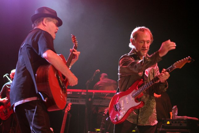 Micky Dolenz (L) and Peter Tork with The Monkees perform in Boca Raton, Florida on July 27, 2013. Photo by Michael Bush/UPI