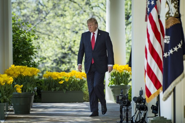 President Donald Trump has decided to discontinue a policy of making visitors to the White House public. Photo by Pete Marovich/UPI