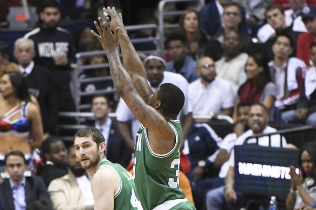 Boston Celtics guard Marcus Smart was fined for a verbal confrontation with officials during Tuesday's loss to the Brooklyn Nets. File Photo by Mark Goldman/UPI
