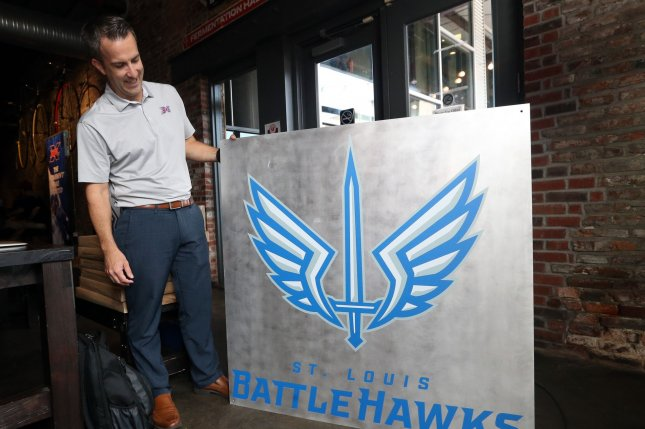 The St. Louis Battlehawks were one of the eight teams to play in the XFL this season before the league was stopped due to the coronavirus pandemic. File Photo by Bill Greenblatt/UPI