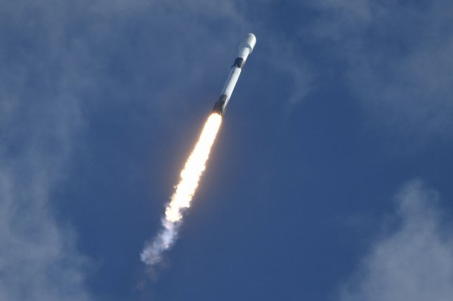 SpaceX launches a number of Starlink satellites into orbit aboard its Falcon 9 rocket, at the Cape Canaveral Air Force Station, Fla., on August 18, 2020. SpaceX launched a similar shipment on Wednesday. File Photo by Joe Marino/UPI