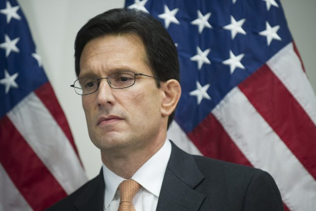 After losing his primary election bid in Virginia, House Majority Leader Eric Cantor said he would step down from the role in July. UPI/Kevin Dietsch