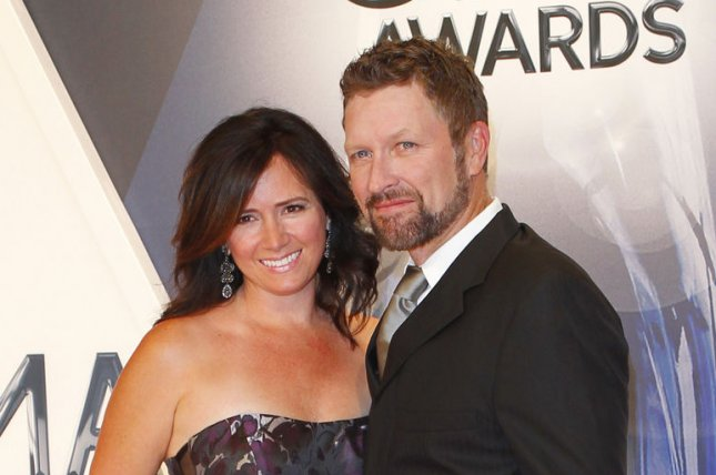 Craig Morgan (R) and wife Karen Greer at the Country Music Association Awards on November 4, 2015. The couple are mourning the death of their son Jerry. File Photo by John Sommers II/UPI