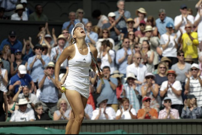 German Angelique Kerber. Photo by Hugo Philpott/UPI