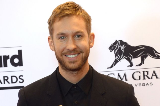 Calvin Harris poses backstage with the award for Top Dance/Electronic Artist during the Billboard Music Awards on May 17, 2015. Harris has commented on his reaction to Taylor Swift revealing that she wrote his hit song This is What You Came For. File Photo by Jim Ruymen/UPI