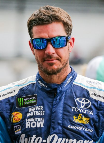 NASCAR driver Martin Truex Jr. owns the top seed in this year's playoffs. Photo by Mike Gentry/UPI