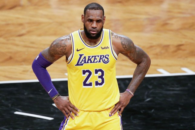 the latest 611c2 2c16e LeBron James of the Los Angeles Lakers says he will be speaking to free  agents who could assist in getting the franchise to the postseason.