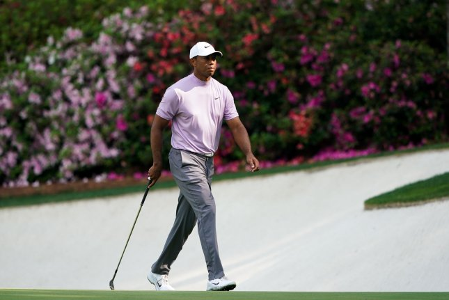 Tiger Woods' children saw their dad win a major championship for the first time at the 2019 Masters Tournament on Sunday in Augusta, Ga. Photo by Kevin Dietsch/UPI