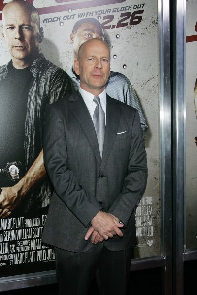 Bruce Willis arrives for the Cop Out Premiere at the AMC Loews Lincoln Square Theater in New York on February 22, 2010. UPI /Laura Cavanaugh