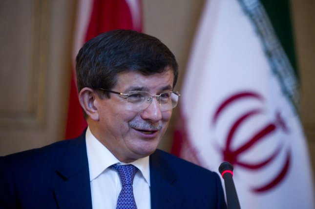 Prime Minister Ahmet Davutoglu has sought to ease fears that Turkey is planning a constitution based on Islam. UPI/Maryam Rahmanian
