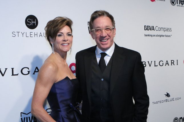 Last Man Standing actor Tim Allen and his wife Jane arrive for the Elton John Aids Foundation's 25th annual Academy Awards viewing party in Los Angeles on February 26. File Photo by Howard Shen/UPI
