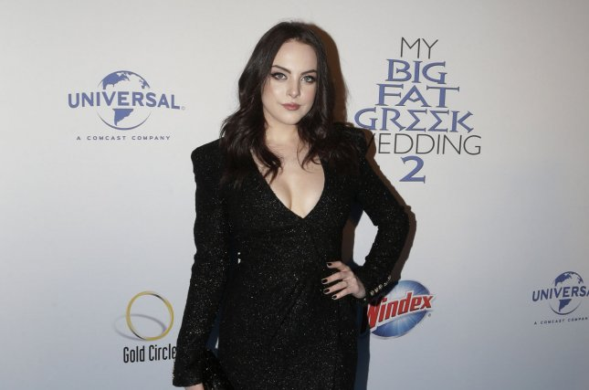 Elizabeth Gillies arrives on the red carpet at My Big Fat Greek Wedding 2 premiere on March 15. Gillies is set to star in The CW's reboot of Dynasty alongside Nathalie Kelley. File Photo by John Angelillo/UPI