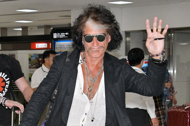 Guitarist Joe Perry has said on social media that he has canceled the remainder of his 2018 concerts. File Photo by Keizo Mori/UPI
