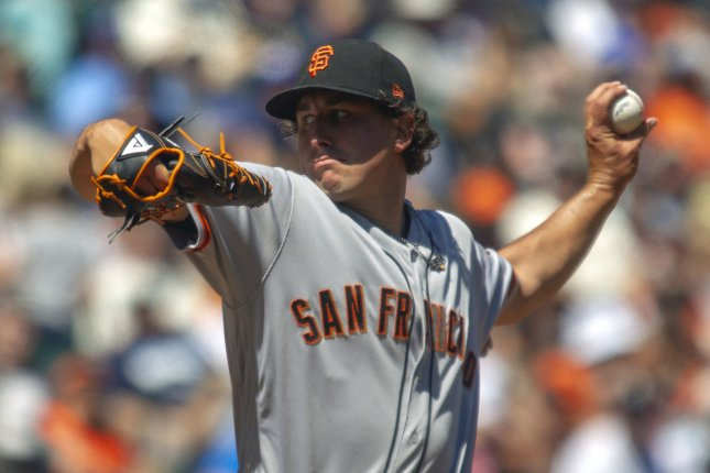 San Francisco Giants pitcher Derek Holland was moved to the bullpen this weekend. Holland said the Giants gave him a fake injury designation earlier this year. File Photo by Jim Bryant/UPI