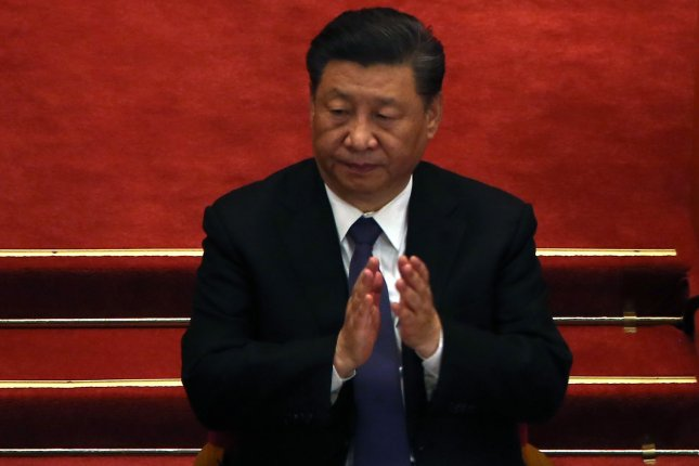 Chinese leader Xi Jinping addressed state goals in planning his country's economy on Monday. File Photo by Stephen Shaver/UPI