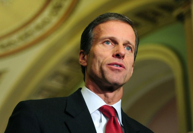 Sen. John Thune (R-SD), who delivered the GOP's weekly address, condemning Obama's jobs bill. UPI/Kevin Dietsch