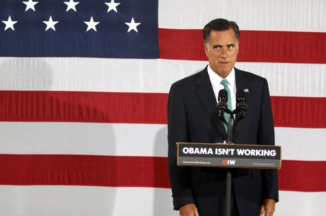 Republican Presidential hopeful Mitt Romney delivers what he called a prebuttal to President Obama's convention speech as he speaks at a campaign stop in Charlotte, North Carolina on April 18, 2012. UPI/Nell Redmond .