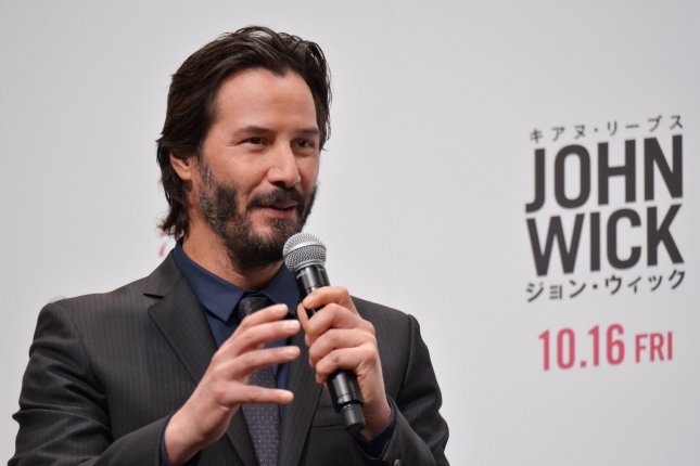 Keanu Reeves attends the Japanese premiere of John Wick on September 30, 2015. The release date and official title were revealed for the sequel, John Wick: Chapter Two. File Photo by Keizo Mori/UPI